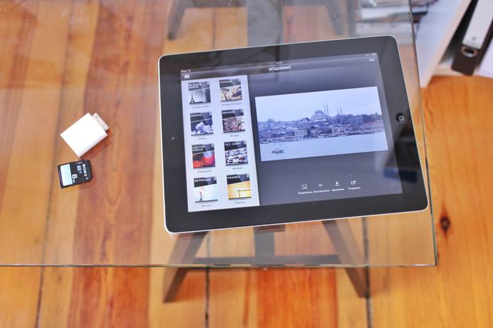 Bild von Snapseed auf dem Schreibtisch.