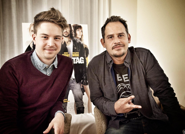 Mark und Moritz beim Interview