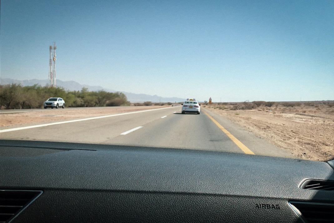 Vom Flughafen aus ging es für uns mit dem Taxi zum Grenzübergang.